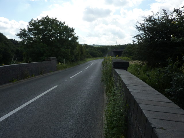 B6419 bridge over closed railway line