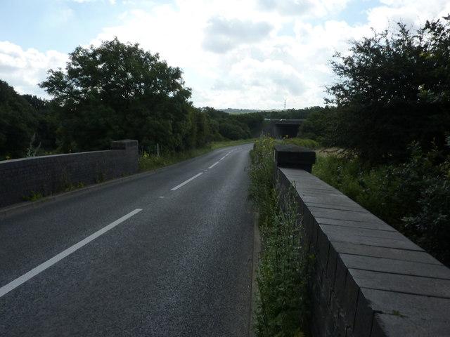 B6419 bridge over closed railway line