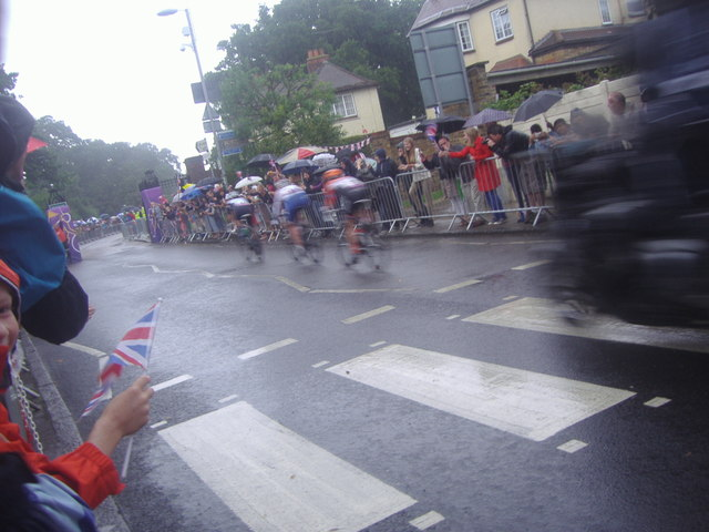 Leading pack, women's Olympic road race