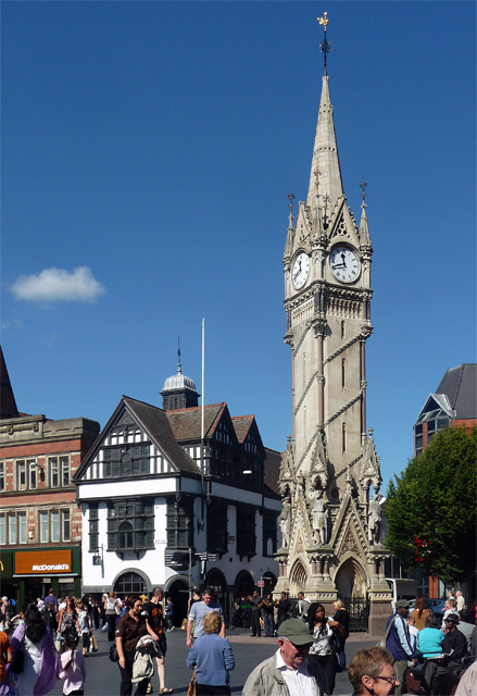 Clock Tower, Haymarket and former Eastgates Coffee House, High Street, Leiceste