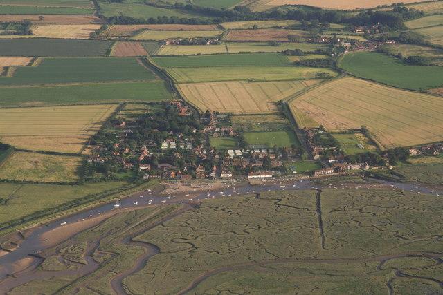 Burnham Overy Staithe aerial