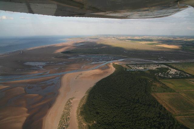 Wells Town Beach, aerial