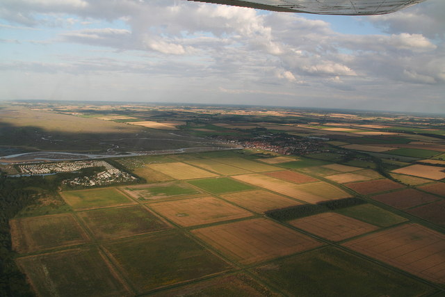 Wells and reclaimed lands, aerial