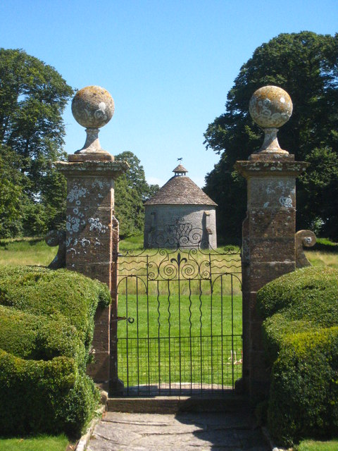 Gateway from the Apostle Garden at Lytes Cary Manor
