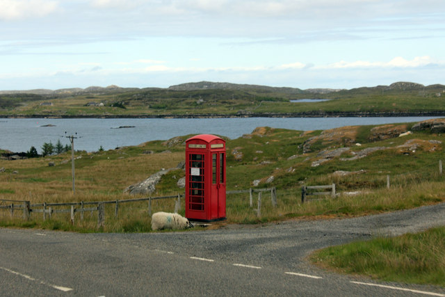 Telephone Box at Crulabhig
