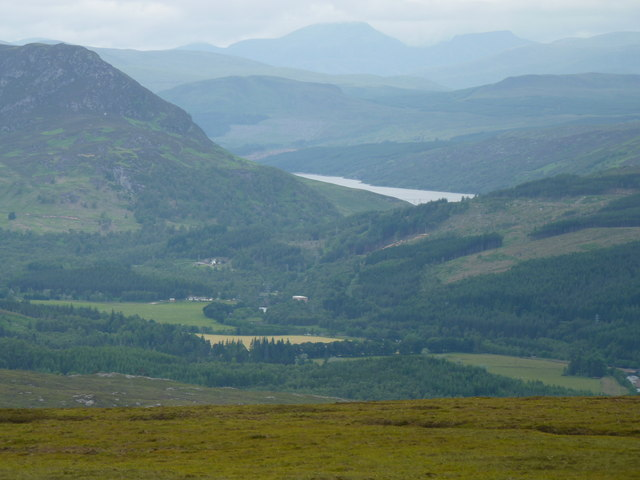 The Scatwell area of Strathconon from Fairburn windfarm