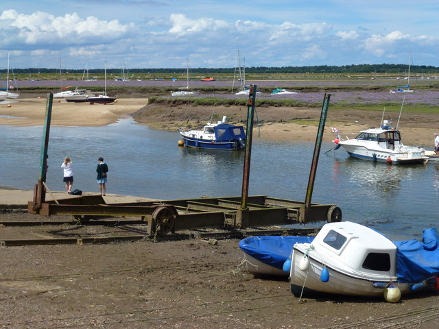 Boat launching winch at Wells-Next-The-Sea