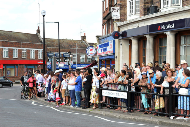 Waiting for the Torch in Southgate, London N14