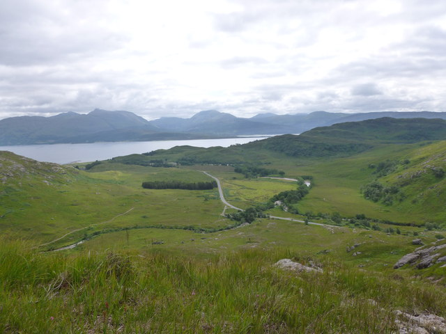 View towards Loch Linnhe from the lower slopes of Sròn a' Gharbh Choire Bhig (Garbh Bheinn)