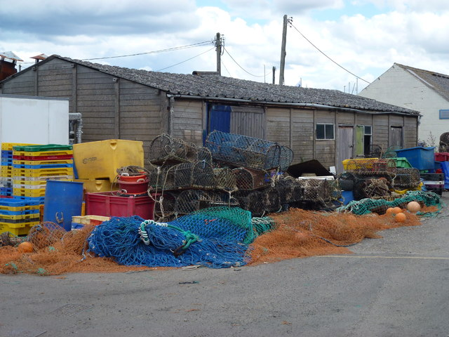 A colourful collection of fishing equipment
