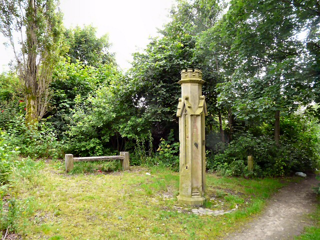 Bench and Gatepost