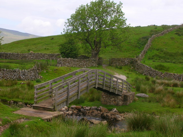 Footbridge over Ling Gill Beck