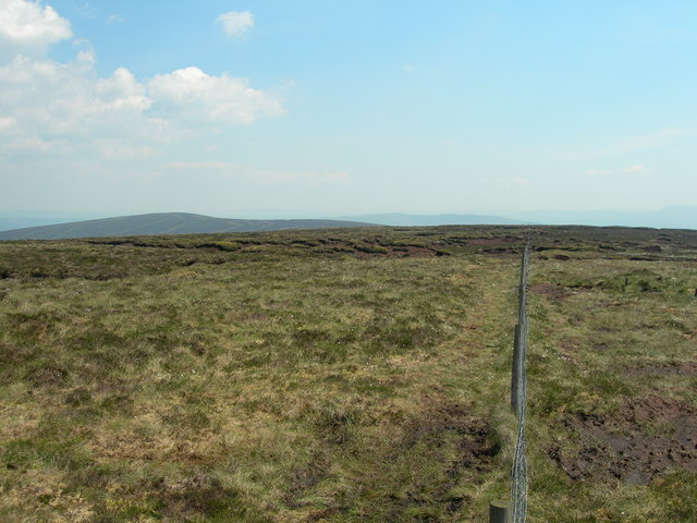 View east-northeast from Fair Snape Fell