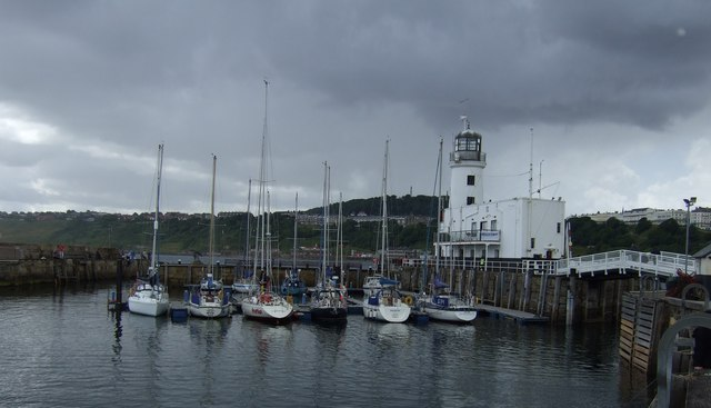 Lighthouse and marina, Scarborough