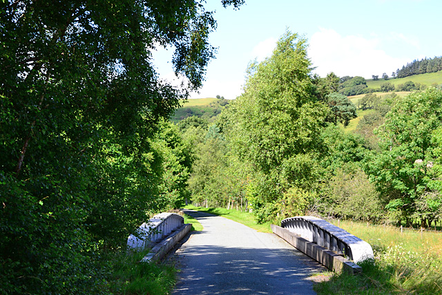 Re-used railway bridge south of Glanyrafon Halt