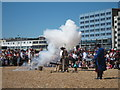 TQ8109 : Cannon on Pelham Beach, Pirate Day by Oast House Archive