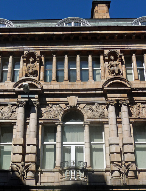Detail of former News Room, Granby Street, Leicester