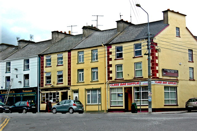 Milltown Malbay - Main Street (N67) - O'Laughlin's Bar - Clare Bar Supplies