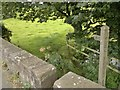 SJ9658 : Stone slab footbridge off Rudyard Road by Chris Morgan