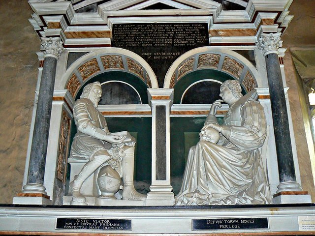 Monument, St Mary's Church, Lydiard Tregoze