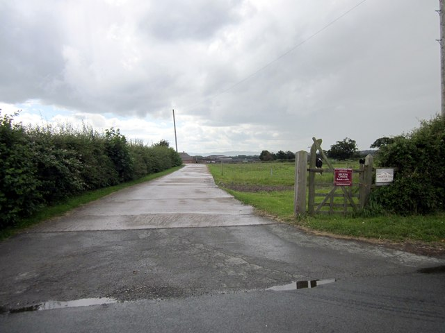 Entrance to Saighton Hall Farm
