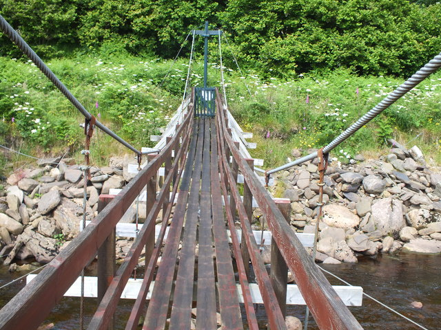 Footbridge across Dunbeath Water