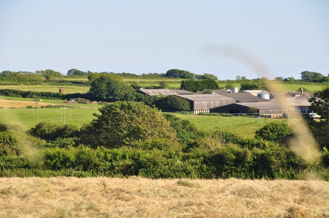 South Hams : Grassy Field & Farm