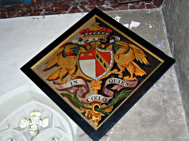 Another hatchment, St Mary's Church, Lydiard Tregoze, Swindon