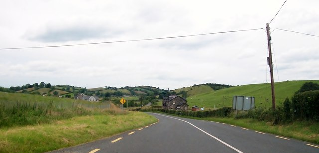View north along the R180 south of Laragh