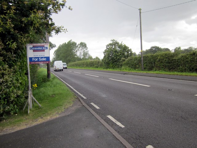 The A41 (Whitchurch Road) at Hatton Heath