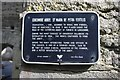 M2908 : Corcomroe Abbey - plaque, near Bealaclugga, Co.Clare by P L Chadwick