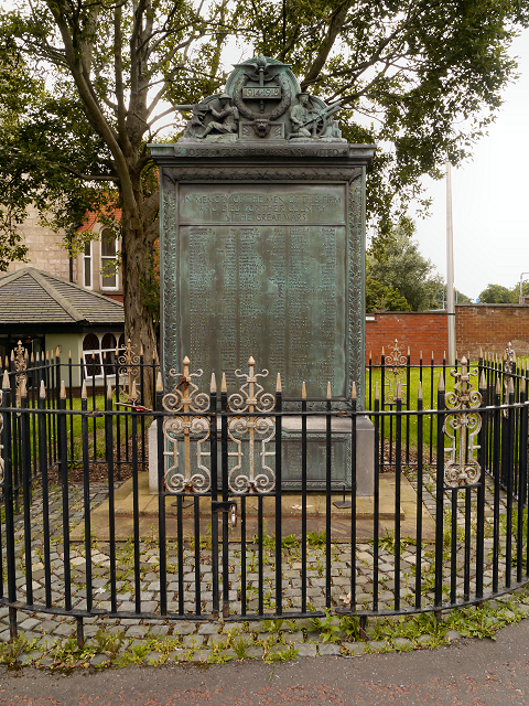 Joseph Crosfield and Sons War Memorial