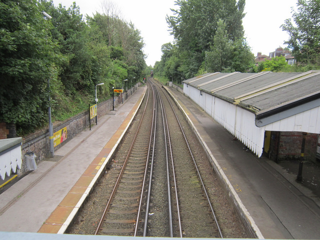 Aigburth station from the footbridge