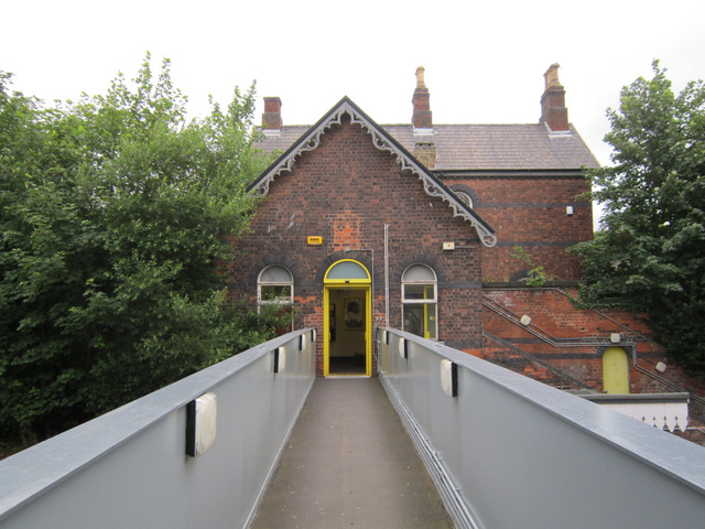 The footbridge at Aigburth station
