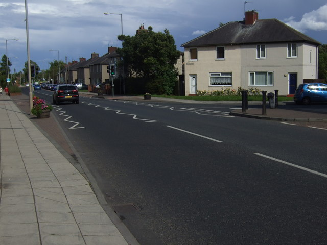 Main Street (A190) through Seghill