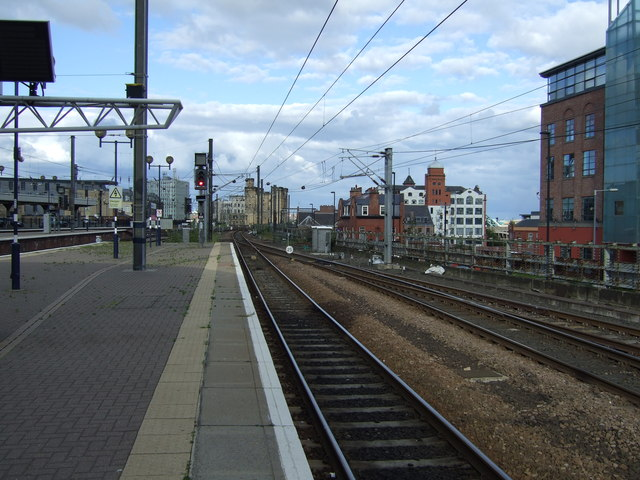 Railway heading out of Newcastle