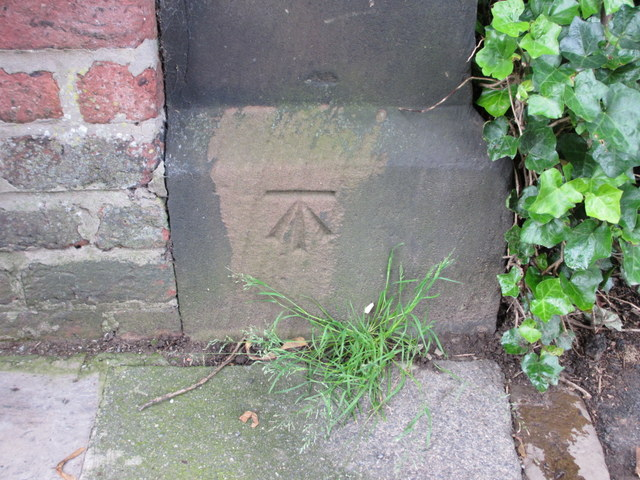 Bench mark in Mersey Road, Aigburth