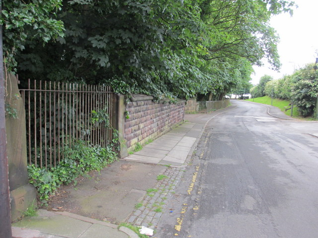 Mersey Road and a bench mark