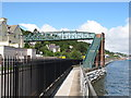W7866 : Footbridge over railway, Cobh by David Hawgood