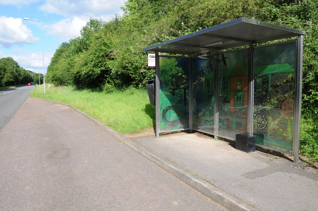 Bus shelter on Paper Mill Drive