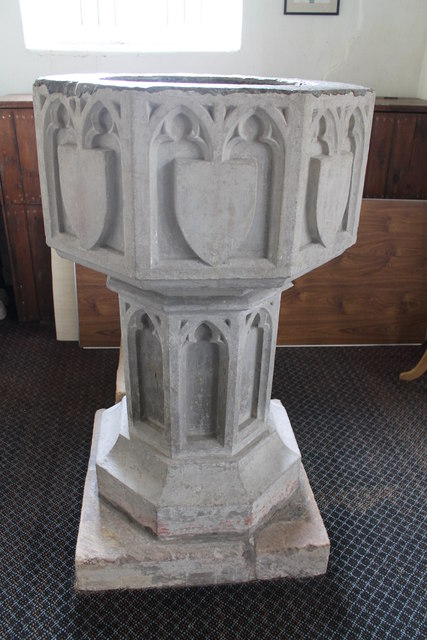 Font, All Saints' church, Orby