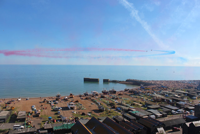 Red Arrows at Hastings