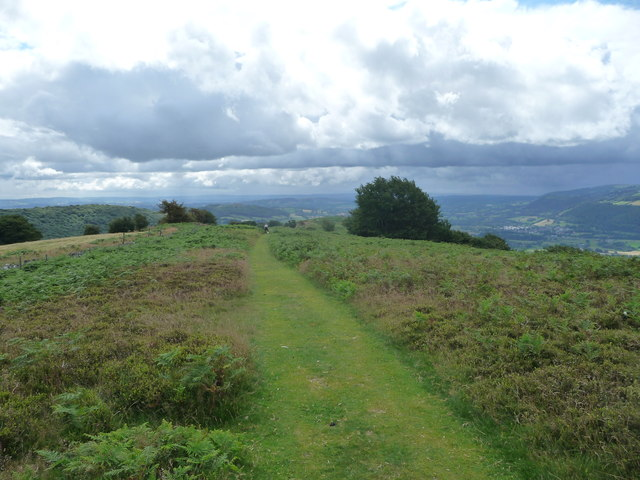 Path on the Rholben above Abergavenny