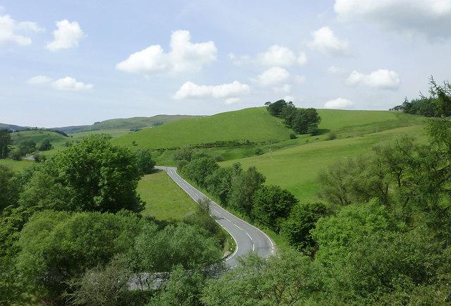 A4120 near Ponterwyd, Ceredigion