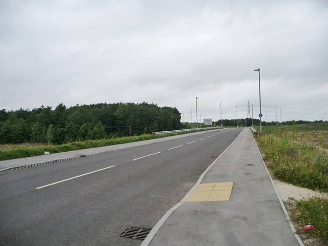 Footpath crossing on the new road