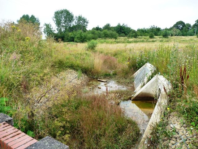 Development land drain, north of the new road