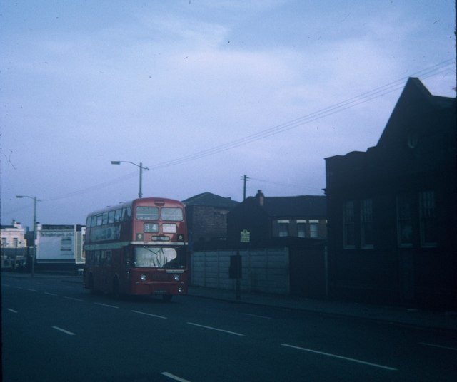 A Manchester bus in Stockport Road