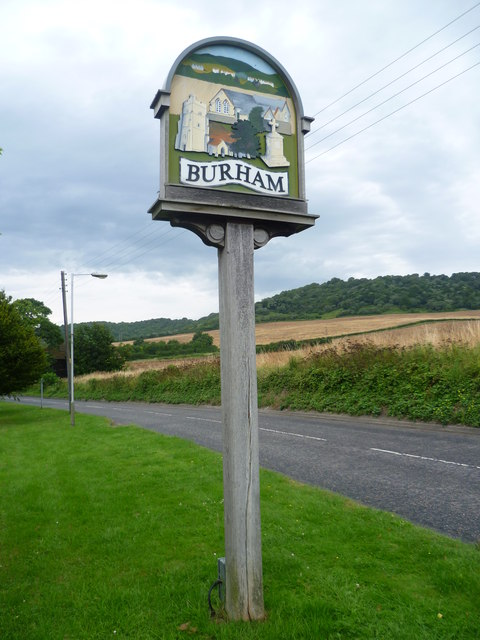 Burham village sign