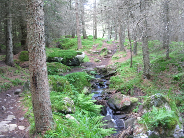 The Kilbo Path crosses the Burn of Kilbo