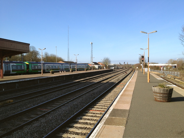 Leamington Spa station minus Ford's Foundry